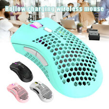 Hollow Charging Wireless Mouse Honeycombs Design USB RGB Backlight Gaming Mice