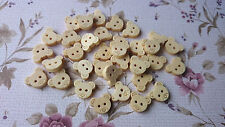 Cute Baby Bear Wooden Button, Sewing, Cardmaking, Craft, Haberdashery