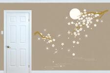 Walplus Crystal Blossom Flowers Under Moonlight Wall Sticker Decal Decorations