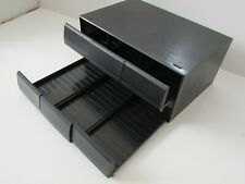 Black Ash Effect Cassette Tape 6 Drawer Storage Box Unit (Hold 72 Tapes)