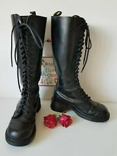 Dr Doc Martens Vintage tall 20 England knee heel high black boots UK6 EU39 US8