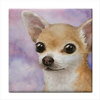 Large Ceramic Tile 6x6 Made in USA Dog 95 Chihuahua art LDumas