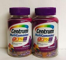 (2) Centrum Multi Gummies for Women Assorted Flavors 70 Gummies In Each Bottle