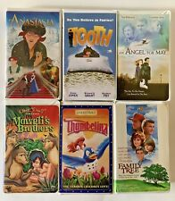 Lot of 6 VHS Movies Action Comedy PG Family Thumbelina Anastasia Mawglis Brother