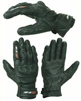 New KNOX® Motorbike Motorcycle GLOVES Leather SPS Armour Knuckle Motocross Biker