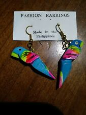 Tone Hooks Made In The Philippines Brand New Wooden Hand Made Parrots Gold