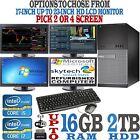 Fast Dual or Quad Multi Monitor Day Trading Computer Set PC Intel i5 i7 16GB 2TB
