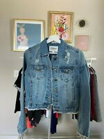 EVIDNT Jeans Women's Stretch Knit Classic Denim Jacket size S