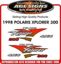 1998 POLARIS XPLORER ,  ATV 300 4X4  DECAL SET ,  reproduction
