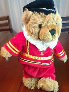 "HARRODS Knightsbridge BEEFEATER London TEDDY BEAR Plush Royal Guard 11"""