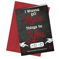 #33 VALENTINES GREETING CARD Girlfriend or Boyfriend ADULT HUMOUR Funny Rude