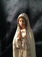 """Our Lady of Fatima Capelinha Hand Carved Painted Figurine Statue 6.5"""" in Box 🎁"""