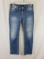 Silver Jeans Suki Womens Blue Denim Size 30 x 32 Boot Cut Light Wash Mid Rise