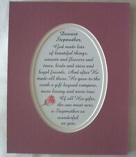 STEPMOTHER Mother GOD Made MOM GIFT Special Loyal FRIEND verses poems plaques