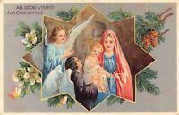 Christmas Nativity~Mother & Child~8-Point Star~Angel Girls~Pine Cones~Langsdorf