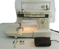 JC Penney Model 7057 Sewing Machine with Cord,controller,Bobbins,Straight Zigzag