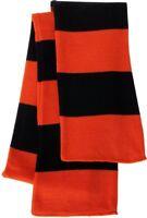 Sportsman - Rugby Striped Knit Scarf, Orange Black