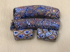 Antique Lot of 4 Venetian Italian Roman African Trade Millefiori Beads Elbow