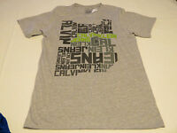 Boys Calvin Klein Jeans t shirt tee youth XL 18/20 lt grey heather 35B64049-95
