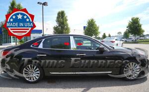 fit: 2011-2016 Hyundai Equus 6Pc Chrome Pillar Post Trim Stainless Steel Door