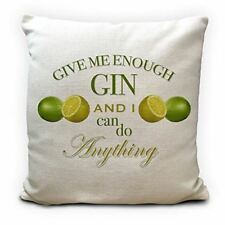 Gin and Tonic Lover Cushion Cover Gift - Home Decor - Lemon and Lime - 16 inches