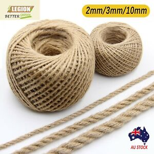 Brown Hemp Soft Jute Rope Twine Sisal String Cord Art Gift Bottle Craft 2 3 10mm