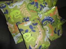 THE COMPANY STORE GREEN ALLIGATORS FROGS (3PC) FULL FLAT & FITTED SHEET P/CASE