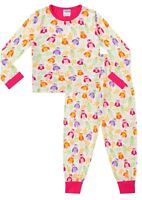 Cute Girl's Long Pyjamas Alll Over OWL Long Pjs 5 to 11 Years