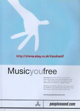 Peoplesound.com Music You Free 1999 Magazine Advert #2580