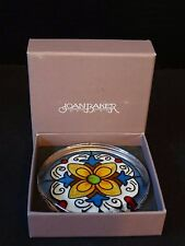 Joan Baker Solid Glass Paperweight ~ Tuscan Fruit ~ NIB ~ Hand Painted