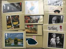 12 SETS OF 2016 POST OFFICE PHQ POSTCARDS - UNOPENED