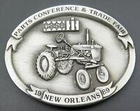 Vintage CASE International Harvester Farmer Farm Equipment Combine Belt Buckle