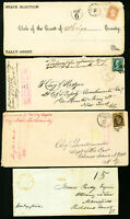 US Lot of 7 Unusual Early Topical Covers w/ Stamps