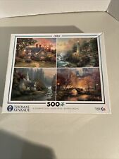Ceaco Thomas Kinkade 4-in-1 500 Piece Puzzle Set