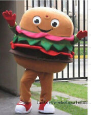 Hamburger Mascot Costumes suits Dining advertising Halloween Party Adults Size