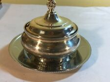 Camille Covered Sugar Bowl with tray IS International Silver Company