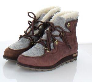 25-36  NEW $180 Women's Sz 7 M Sorel Sneakchic Alpine Leather Booties