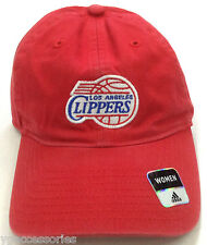 NBA Los Angeles Clippers Adidas Women Slouch Curve Brim Buckle Back Cap Hat NEW!