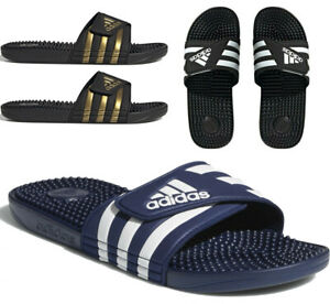 Mens Adidas Sliders Adissage slides Massage Footbed Summer Beach Pool Shoes