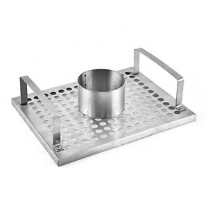 BBQ VERTICAL BEER CAN CHICKEN ROASTER BARBECUE COOK UPRIGHT STAND HOLDER TRAY