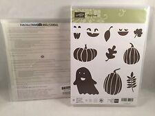 FALL FEST stamp & FUN FALL Framelits Bundle New Halloween Ghost Pumpkin Leaf