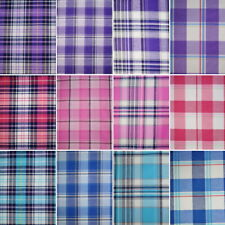 Cotton Rich Fabric Checks Single Side Tartan Gingham Chequered 140cm Wide