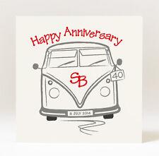 Personalised Handmade  Campervan Anniversary Card