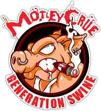 "Generation Swine Motley Crue Heavy Metal Music Car Bumper  Sticker Decal 4""X5"""