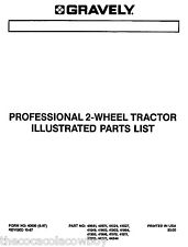 Gravely Professional 8 10 12 and 16 HP 2 Wheel (Two Wheel) Tractors PARTS MANUAL