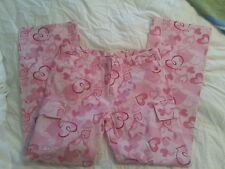 My Funny Valentine Juniors Hearts Cargo Pants -X Large  NWOT