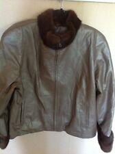 NWOT Chosen Leather And Fox Jacket