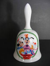 Disney Christmas Bell Mickey Goofy Donald 1975 Limited Edition Schmid Brothers
