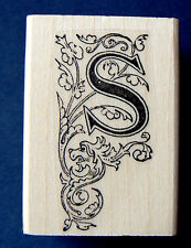 Monogram Letter S rubber stamp  WM P41