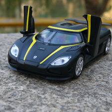 Model Car Koenigsegg Agera R 1:32 Alloy Diecast 2 door can bounce off Toy Black